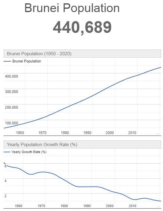 Brunei Population Graph